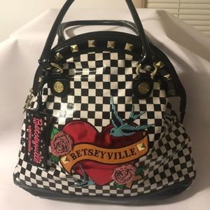 Betsyville  by Betsy Johnson Checkered Purse